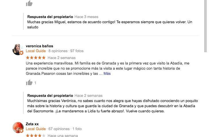 opiniones abadia sacromonte granada